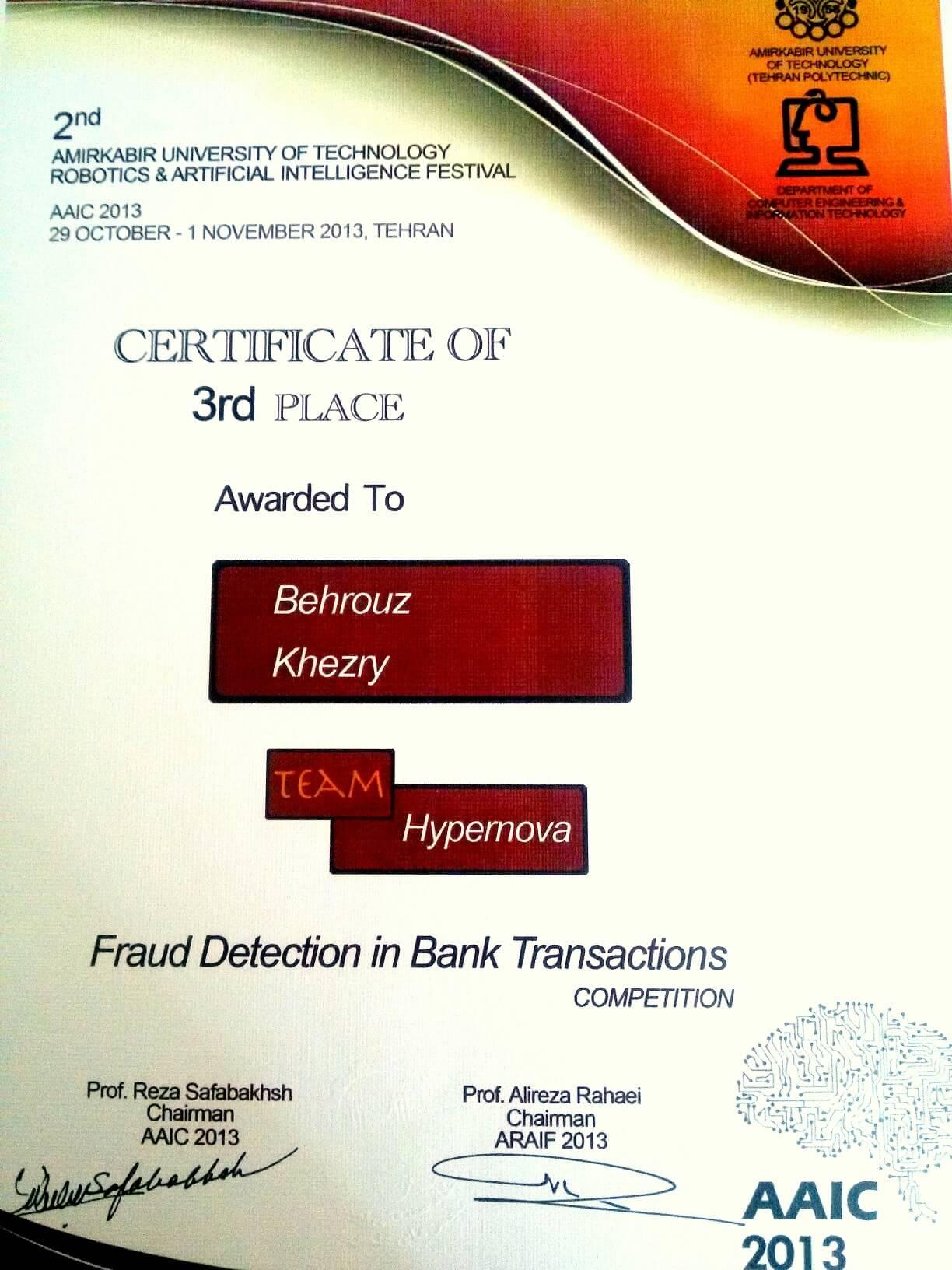 Behrouz Khezry CV Resume
